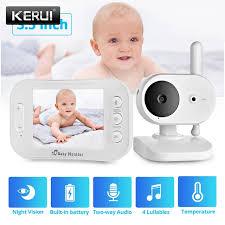 KERUI <b>3.5 Inch</b> Wireless <b>Video</b> Color <b>Baby</b> Monitor Music <b>Baby</b> ...