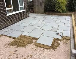 laying patio stones flagstone patio diy flagstone patio