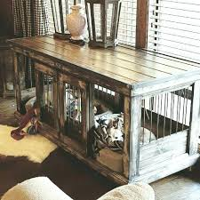 awesome pet crate end table wooden
