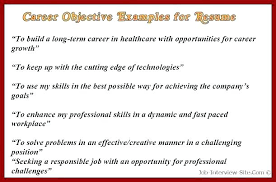 Effective Career Objective For Resumes Sample Career Objective For Accounting Fresh Graduate Possible