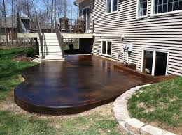 stained concrete patio designs ideas