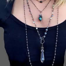 long labradorite pendant necklace clear lead crystal chandelier