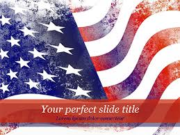 Aged Usa Flag Powerpoint Template Backgrounds 15450