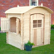 rebo wooden bow top playhouse side open