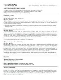Commercial Real Estate Appraiser Sample Resume Real Estate Resume Samples 32