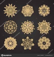 набор из мандалы коллекцию стилизованных звезд и снежинок O