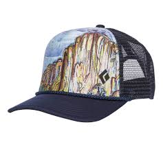 Flat Bill Trucker Hat - Black Diamond Gear