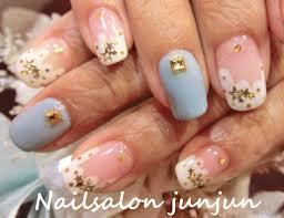 熊本 ネイルサロンjunjun星がいっぱいの冬ネイル