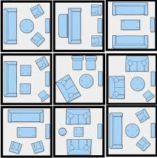 Efficient furniture placement for a small living room