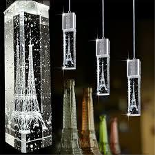 details about tower led crystal bubble light chandelier ceiling pendant lamp living room decor