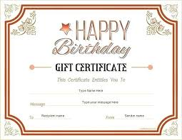 Gift Certificate Word Template Free Simple Birthday Gift Coupon Template Word Babysitting Certificate Free