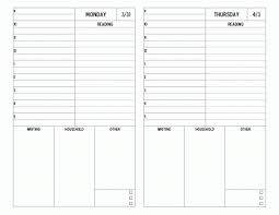 Student Daily Planner Grad Student Daily Planner 2 Up D I Y Planner