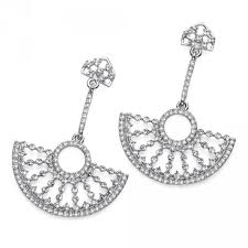 chandelier style bridal swarovski crystal necklace
