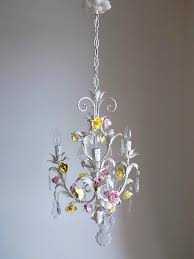 italian vintage tole chandelier with porcelain flowers lightbox lightbox