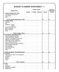Monthly Budget Planning Household Budget Template Personal Budget Planning Template