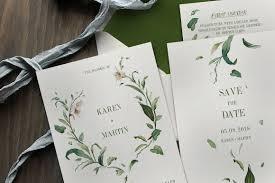 invitation templates ~ creative market Wedding Invitations Templates For Illustrator green foliage wedding invitation wedding invitation templates for adobe illustrator