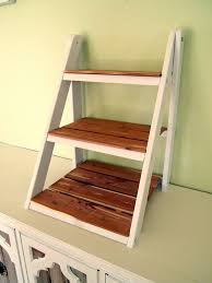 mini ladder shelf for serving and entertaining sawdust and embryos