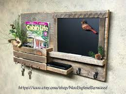 decorative wall mounted key holder awesome chalkboard mail and key holder