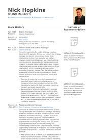 Senior Associate Brand Manager Resume samples