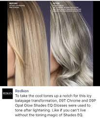 09p Shades Eq Chart Silver Blonde Hair Redken Shades Eq 09t And 09p Chrome And