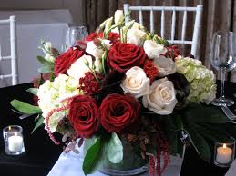 Black and white wedding with RED ...