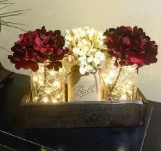 Mason Jar Decorations For A Wedding Rustic Wedding Decor Rustic Wedding Centerpiece Mason Jar Decor 54