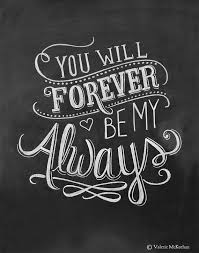 Forever Love Quotes Interesting Life Quotes Inspiration Wedding Print You Will Forever Be My