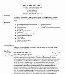 Construction Carpenter Objectives Resume Objective Livecareer