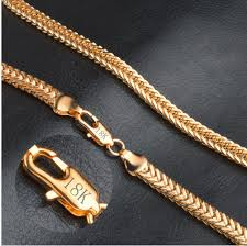 dels about 24k gold filled snless steel curb cuban link chain men necklace 6mm uk seller