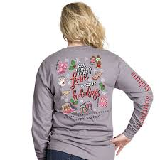 Simply Southern Size Chart Youth Simply Southern Xmas Faves Long Sleeve Shirt Adult Youth
