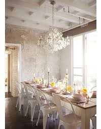 xavier pauchard french industrial dining room furniture. Eclectic Dining Room Design With White Tolix Chairs, Rustic Farmhouse Table, Crystal Chandelier And Metallic Wallpaper. ~ By Amy Neunsinger Xavier Pauchard French Industrial Furniture D
