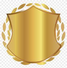 golden shield badge gold shield