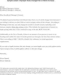 Sample Of Rent Increase Letter Download Sample Letter Improper Rule Change Fee Or Rent