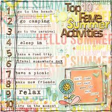 Summer Word List Top 10 Fave Summer Activities By Melanie Nutile Pixel