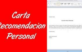 Carta con recomendación laboral certificando situación. Carta De Recomendacion Personal De Un Amigo