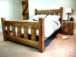 Rustic King Bed Frame Plans Diy Size Build Full Wood Architectures ...