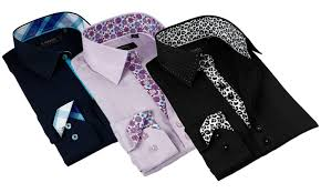 Up To 80 Off On Coogi Luxe Mens Dress Shirts Groupon Goods