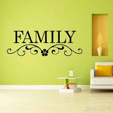 for family vinyl wall stickers wall art decal removable decor lettering words quote bedroom sitting room diy adhesive wall art adhesive wall decals from  on wall art words for bedroom with for family vinyl wall stickers wall art decal removable decor