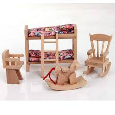 w007 high quality children gift kids wooden toy furniture doll house set diy educational toys baby baby kids kids furniture
