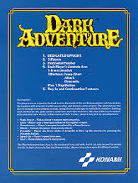 Dark Flyer The Arcade Flyer Archive Video Game Flyers Dark Adventure Konami