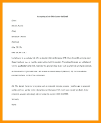 Email Accepting Job Offer Unique Formal Job Acceptance Letter Confirmation Of Offer Travelwallco