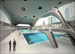 olympic swimming pool 2012. It Was Designed By Pritzker Prize Winning Architect Zaha Hadid In 2004 Before London Won The Bid. Centre Is Located Olympic Park At Stratford Swimming Pool 2012