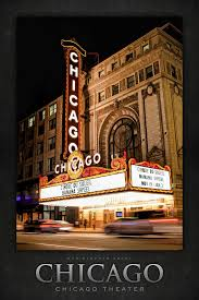 Magic Shows Painting - Chicago Theatre Marquee Sign At Night Poster by  Christopher Arndt