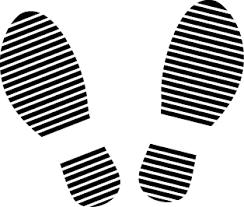 イラストポップのマーク素材 足跡の無料マーク素材
