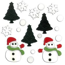 Magicgel Fensterbilder Weihnachten Schneemänner Im Wald Fensterdeko Spiegeldeko