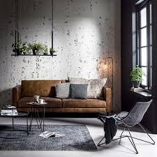 Industrial Living Room With Indoor Plants