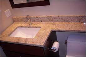 image of granite countertop bathroom