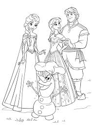Frozen Elsa Anna Coloring Pages Books 100 Free And Printable