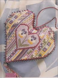 Sue Page Cross Stitch Designer Needlecraft Issue 135 Canvaswork Heart By Sue Hawkins
