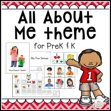 All About Me Theme Pack For Pre K K
